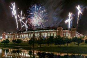 rangers ballpark fireworks 4