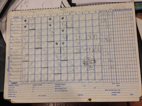 Nadel first game -- scorebook -- smaller copy