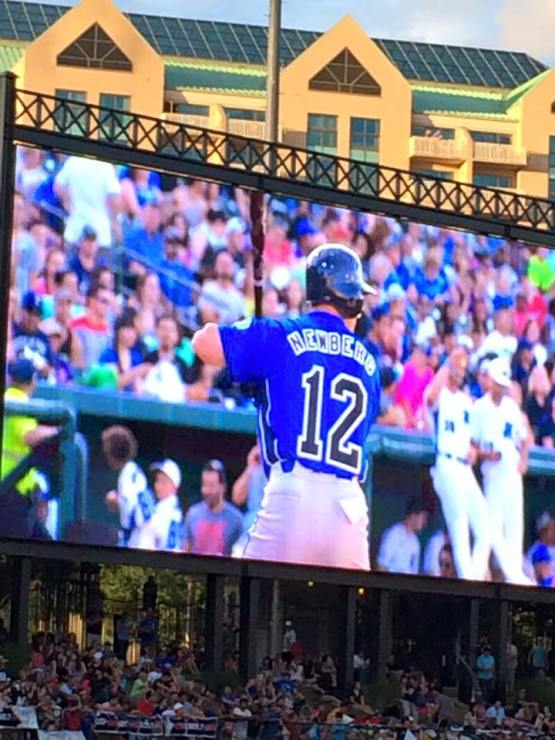 heroes -- my at bat on video board